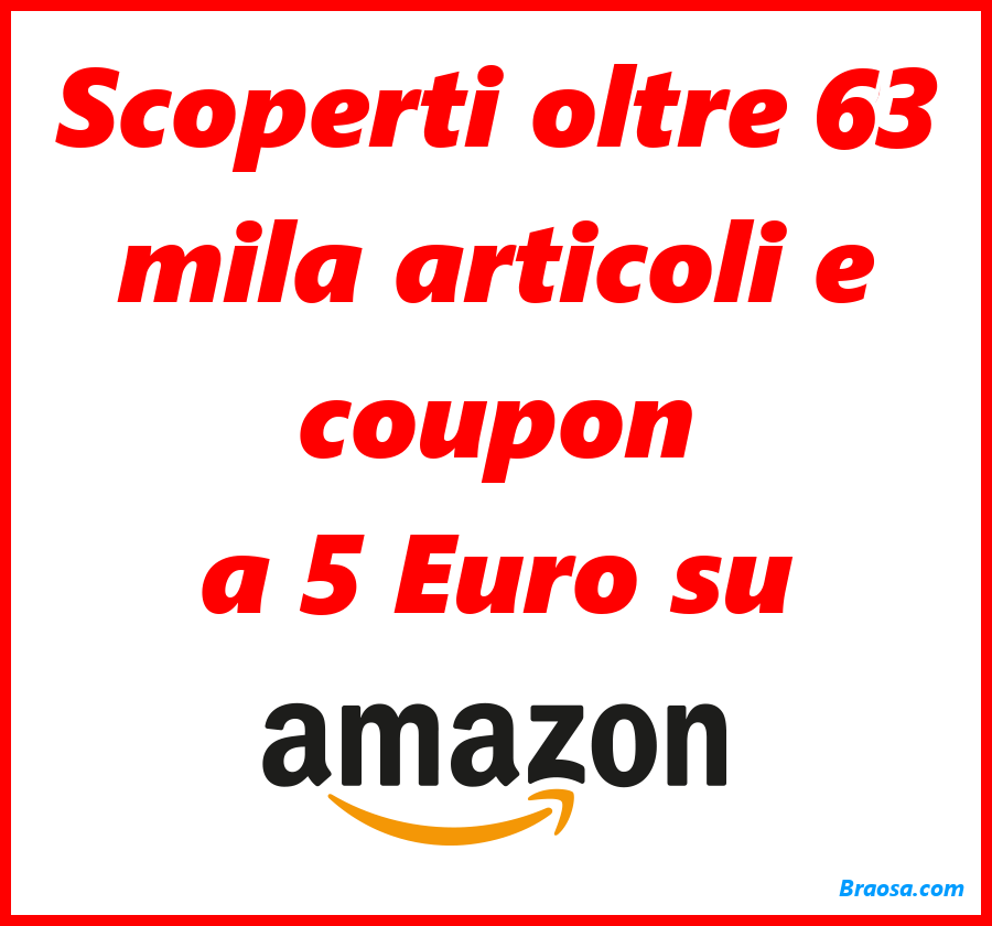 5 euro Amazon buoni sconto e coupon di oggi