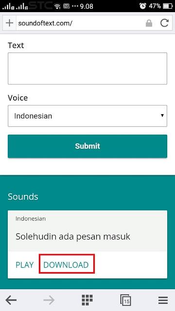 download sound text whatsapp