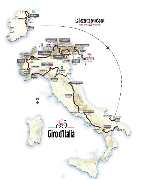 It's too cold: let's watch the Giro d'Italia!