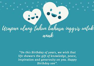 ucapan ulang tahun bahasa inggris untuk anak