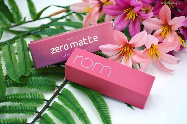 romand Zero Gram Matte Lipstick #10 Before Sunset Review