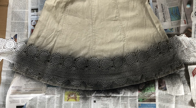 DIY Textilspray Häkeloptik