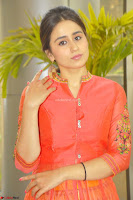 Simrat in Orange Anarkali Dress 26.JPG