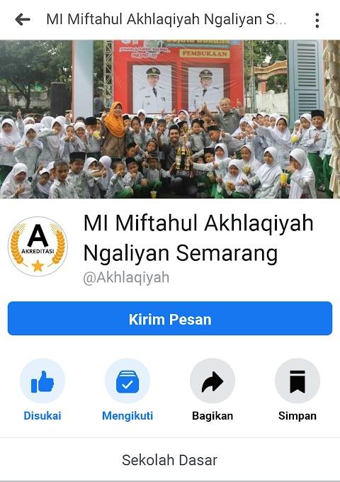 Official Akun Facebook Milik MI Miftahul Akhlaqiyah Beringin Semarang