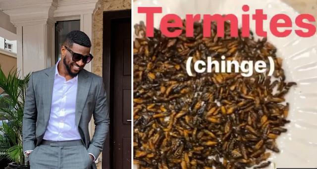 Peter Okoye Seen Eating Termites, Confirms It's Delicious