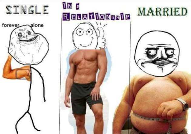 16 Funny Pictures Of The Startling Differences Between Single And Married Life - The belly differences!