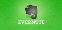 Green background with the silohuette of an elephant-click image to go to the evernote website.