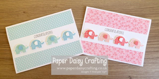 Stampin Up Little Elephant baby card