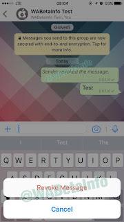 WhatsApp kian menjadi sebuah aplikasi perpesanan yang exceed di dunia Cara Membatalkan Pesan WhatsApp yang Terlanjur Terkirim