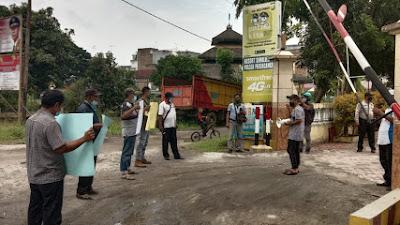 Aktivis Jurnalis Kota Perdagangan Adakan Aksi di Polsek