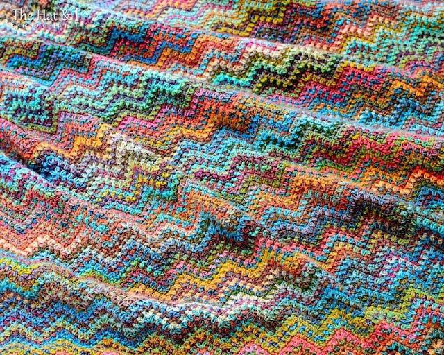zygzag blanket pattern