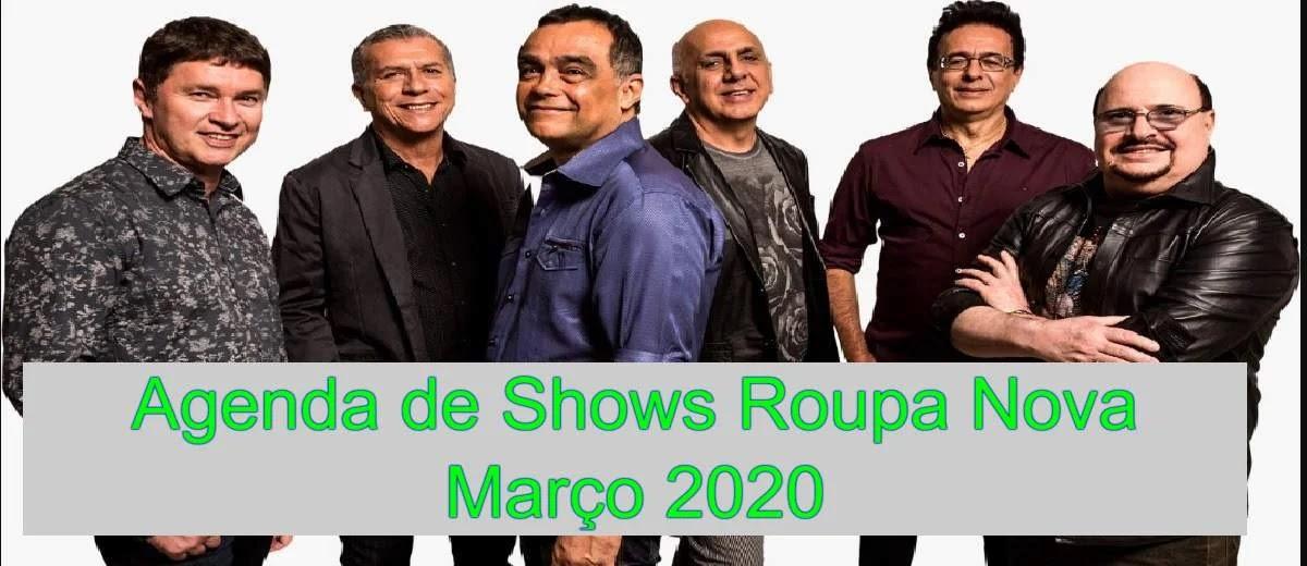 Agenda Shows Roupa Nova Março 2020 Cidades, Locais, Ingressos