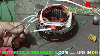 Cooler motor winding connection in hindi | 3 speed cooler motor connection.