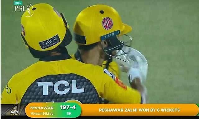 Peshawar Zalmi Winning Movement PSL 2021