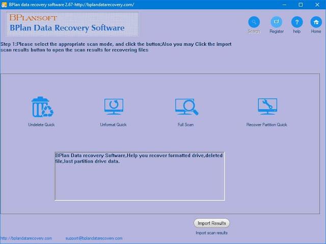 Screenshot Bplan Data Recovery Software 2.67 Full Version