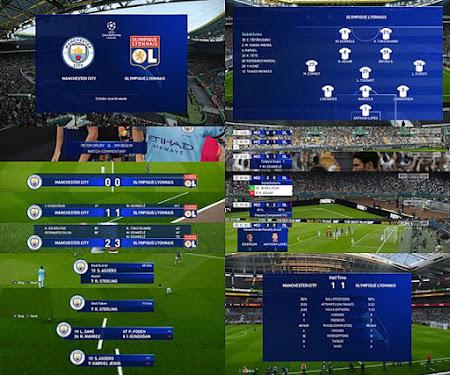 PES 2020 UEFA Champions League Scoreboard