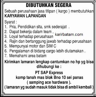 Lowongan Kerja PT. SAP Express