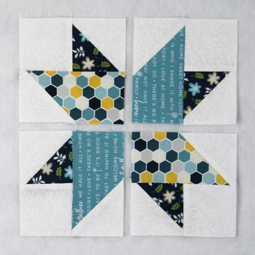 Duck Tracks Quilt Block - Free Pattern