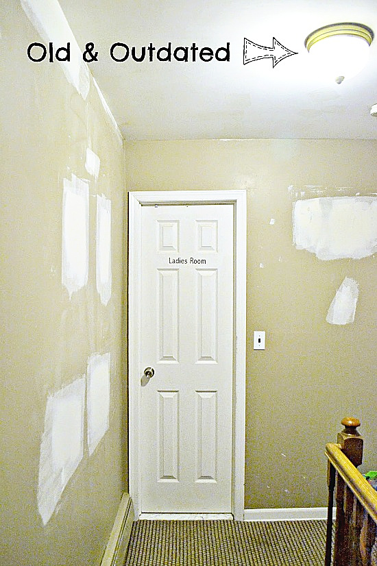 old outdated hallway