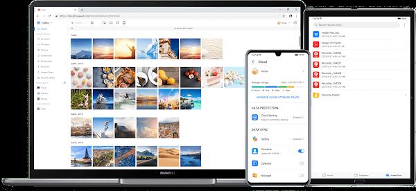 Huawei Mobile Cloud com novos recursos de armazenamento de fotografias e planos de subscrição