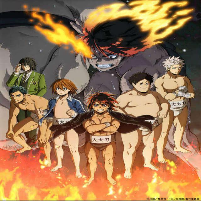 """إنها طقوس سماوية، وفنون حربية، ورياضة قتالية، إنها سومو !! يظهر طالب جديد """"صغير الحجم""""، """"يوشيو هينومارو""""، أمام نادي """"السومو الصغير الضعيف"""""""