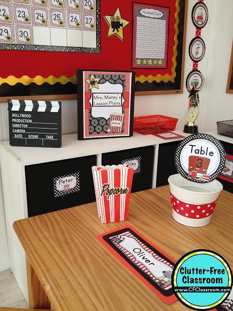 Classroom Decoration Ideas Printables : Hollywood themed classroom ideas printable