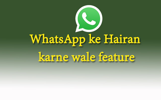 WhatsApp features new
