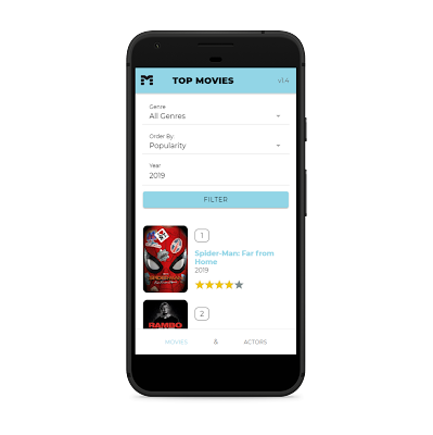 The film Data Base Ionic Android Application - 2