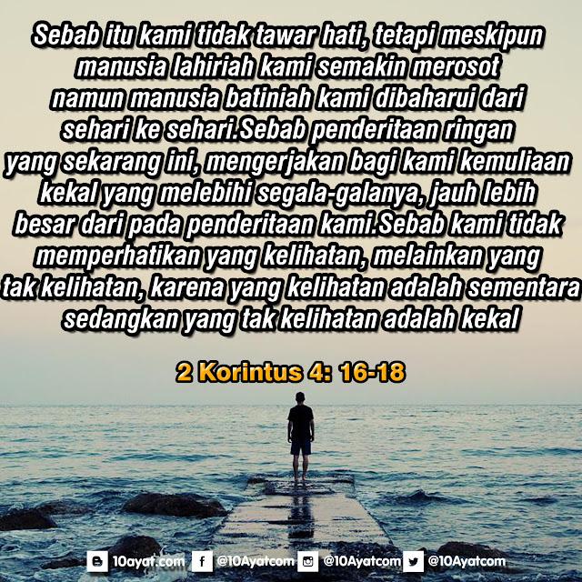 2 Korintus 4: 16-18