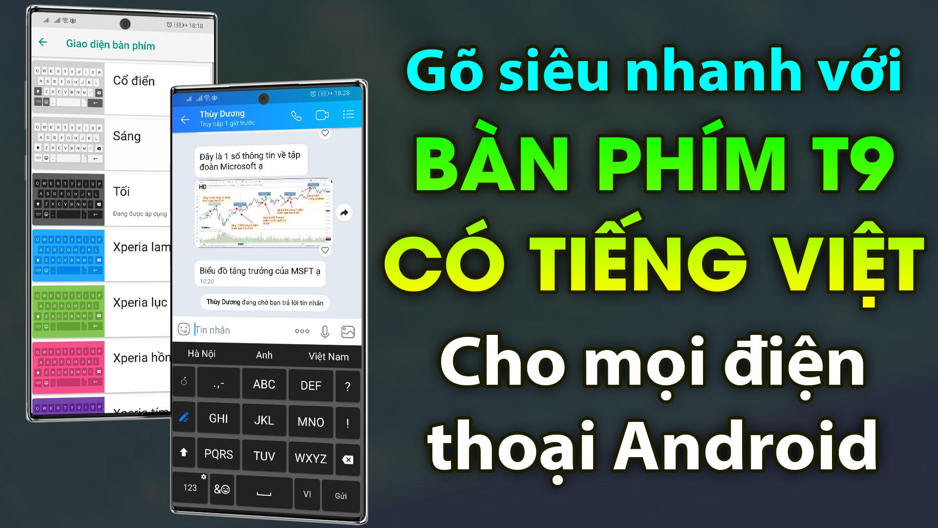 Cách tải và cài đặt bộ Bàn Phím T9 Tiếng Việt Xperia Keyboard lên mọi điện thoại Android