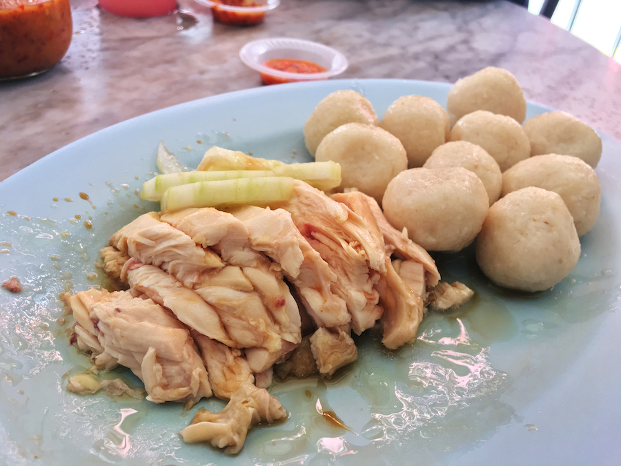 Hainan chicken rice balls famous in Malacca