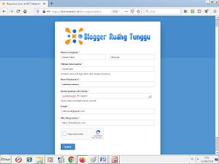 Halaman Registrasi Member BRTNetwork