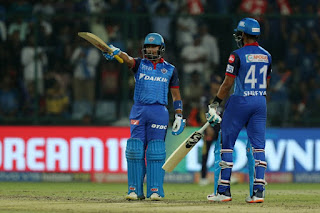 Prithvi Shaw 99 - DC vs KKR 10th Match IPL 2019 Highlights