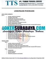 Loker Surbaya di PT. Timur Terang Sukses September 2020
