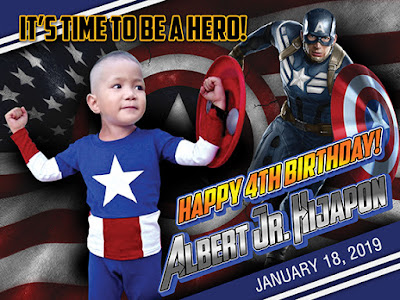 Free Editable Captain America Concept Tarpaulin for Birthday