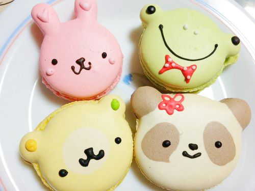 Animal shape macarons