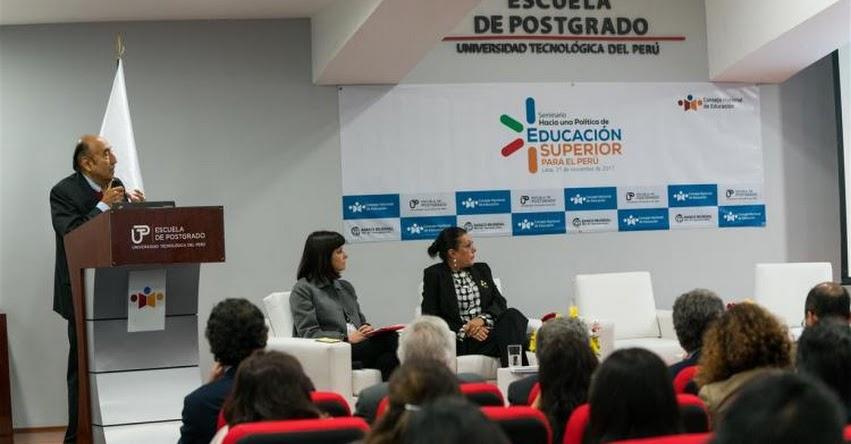 CNE pide que se continúe contribuyendo en la construcción de una política de educación superior - www.cne.gob.pe