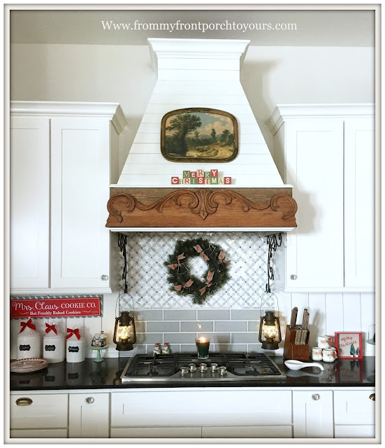 Farmhouse Christmas Kitchen-Custom Vent Hood-Shiplap-From My Front Porch To Yours
