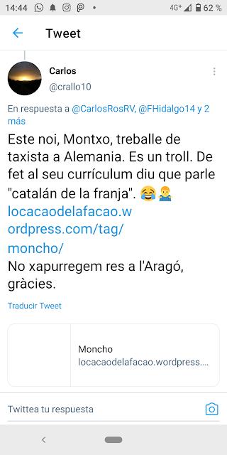 Carlos Rallo Badet, twitter, Manuel Riu Fillat, lo cacao de la Facao