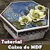 DIY Caixa scrapdecor com flores de papel | Tutorial | PAP