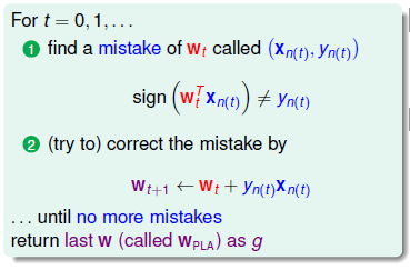 Count 朱: PLA 中 sign (w * x) 的幾何意義
