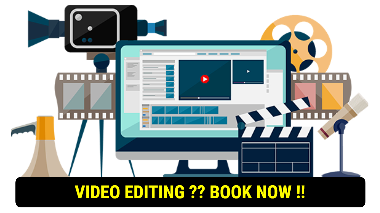 NO SKILL ABOUT VIDEO EDITING ?? BOOK NOW !!