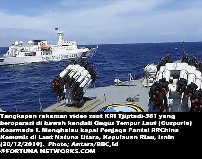 China Mulai Bikin Chaos di Natuna. Kapal Perang TNI-AL Usir Kapal China Coast Guard di Perairan Natuna