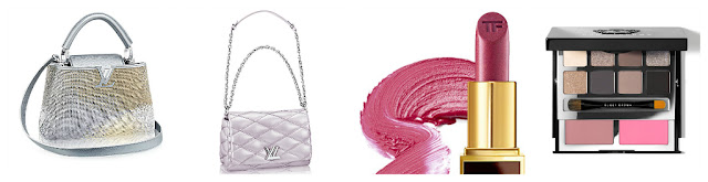 louis vuitton handbag and makeup for holidays