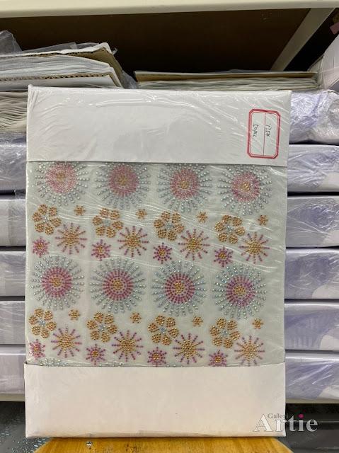 Hotfix stickers dmc rhinestone aplikasi tudung bawal fabrik pakaian 4 bunga berbagai saiz