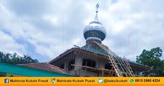 Pemasangan Kubah Masjid Stainless Salaman - Magelang