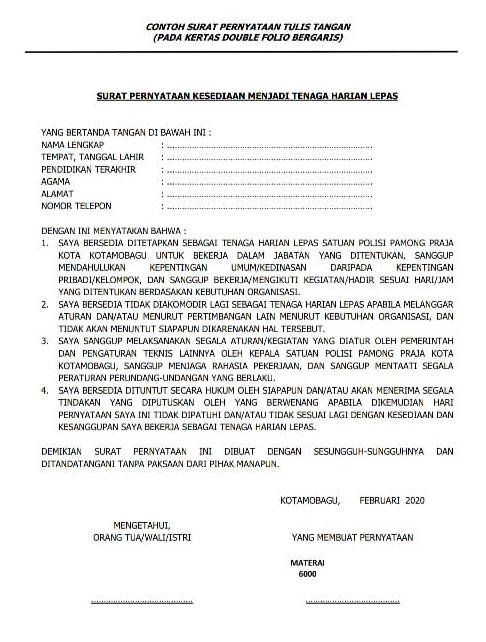 Rekrutmen Tenaga Harian Lepas Satpol Pp Dan Damkar Kotamobagu Minimal Sd Bulan Maret 2020 Rekrutmen Lowongan Kerja Bulan Januari 2021