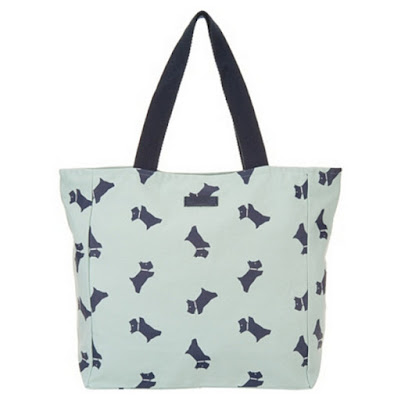 Top Ten Canvas Tote Terrier Dog Print