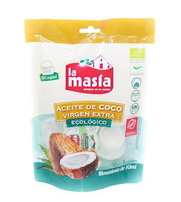 La masia aceite de coco extra ecológico