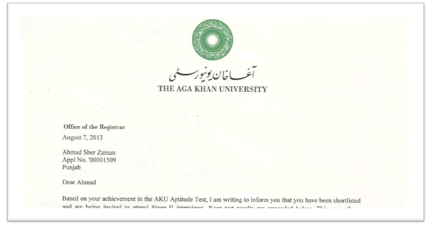 Preparation Guide for Aga Khan